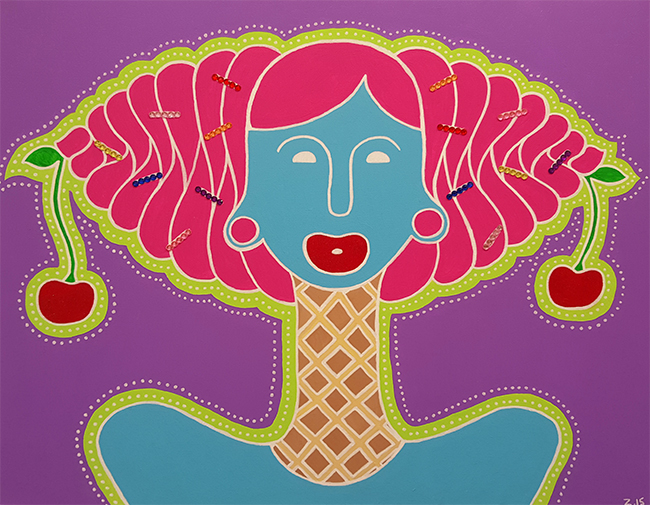 """Soft Serve"" ©Z.Grimm 2015 Acrylic on Canvas"