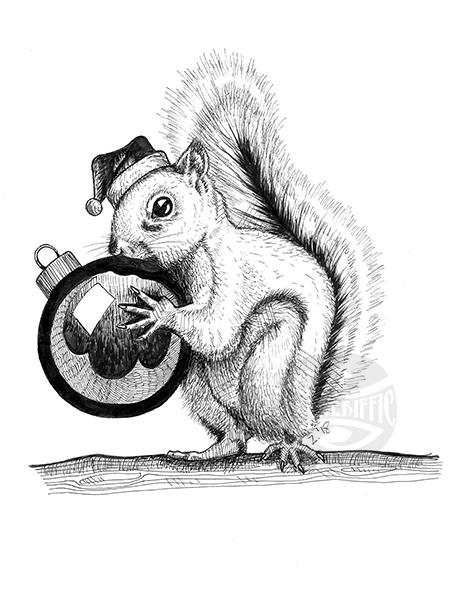Super Secret Santa Squirrel