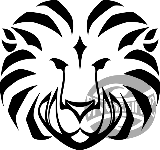 lion emblem vector watermarked